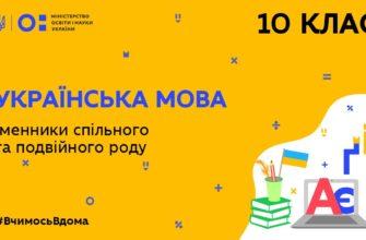 Українська мова. Іменники спільного та подвійного роду