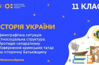 Історія України. Повернення кримських татар на історичну Батьківщину