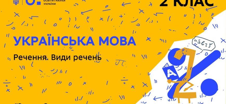 Українська мова. Речення. Види речень