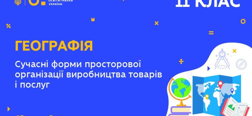 Сучасні форми просторової організації виробництва товарів і послуг в Україні